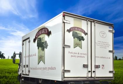 Sobarts lorry on motorway