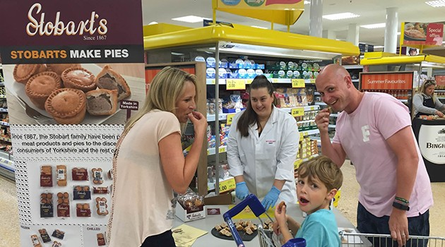YORKSHIRE DAY – STOBARTS SAMPLE AT TESCO YORK STORE